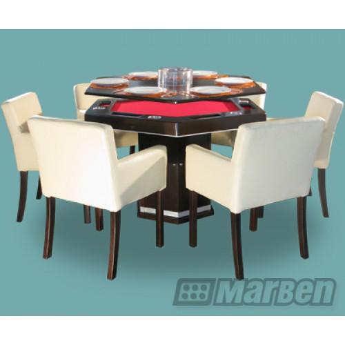 Mesas de juego sal n de juegos casinos residencial o for Comedor hexagonal